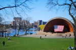 The Hatch Shell where the Boston Pops and others play