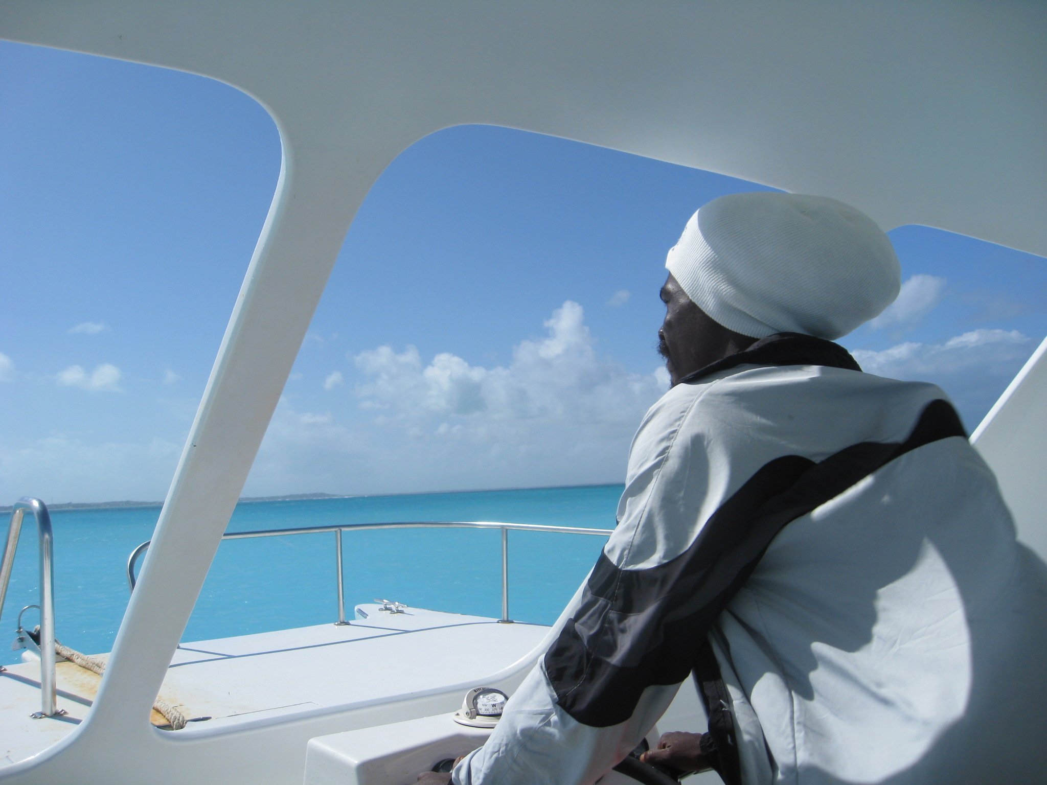 Boat captain in Turks and Caicos