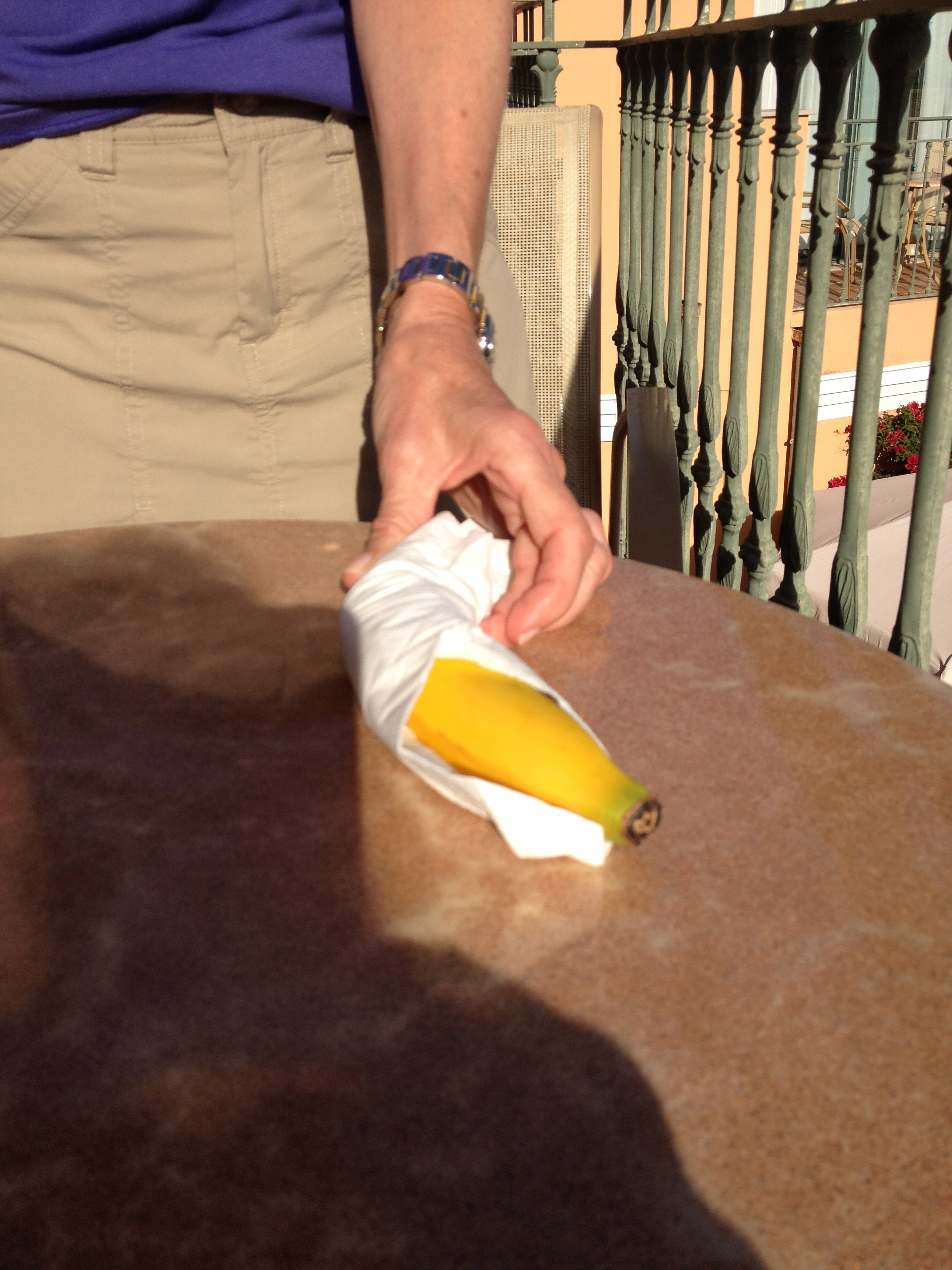 Banana preparation - hygiene matters in food theft