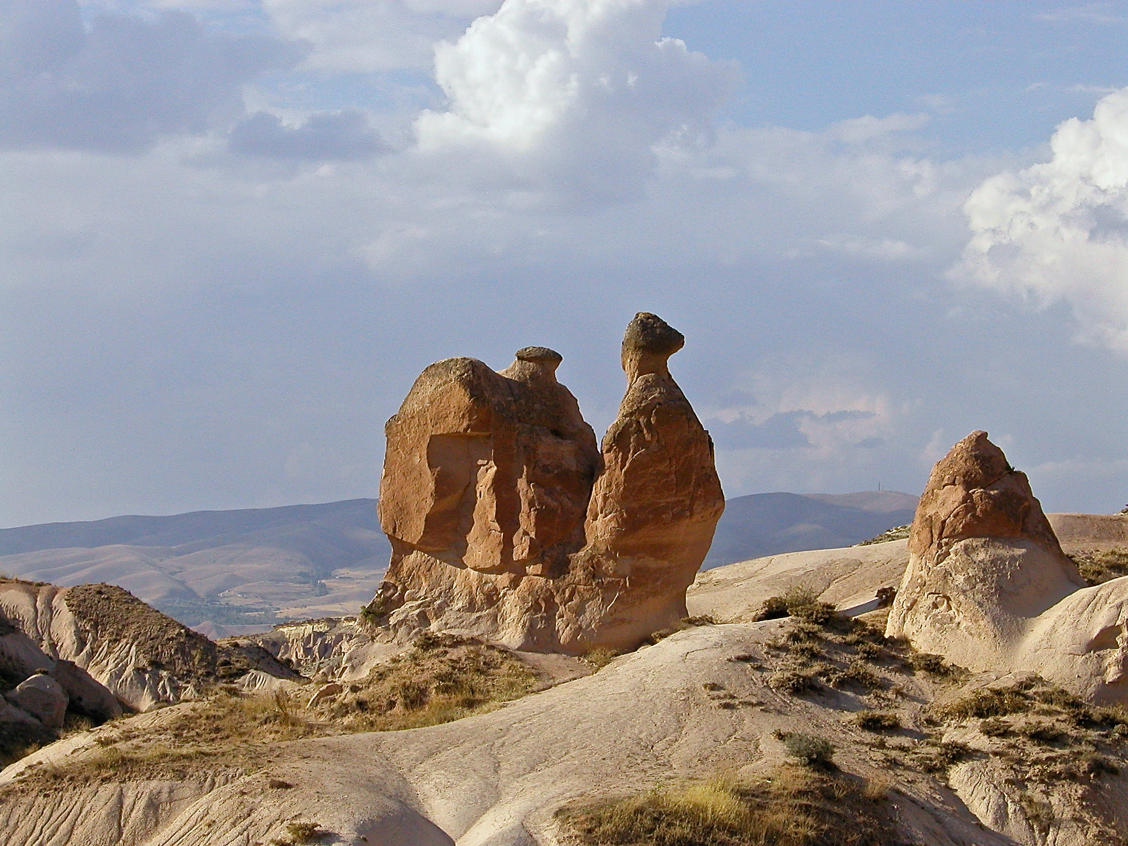 Formation from soft volcanic rock in Cappadocia - it's supposed to look like a camel but kind of looks like a snail too
