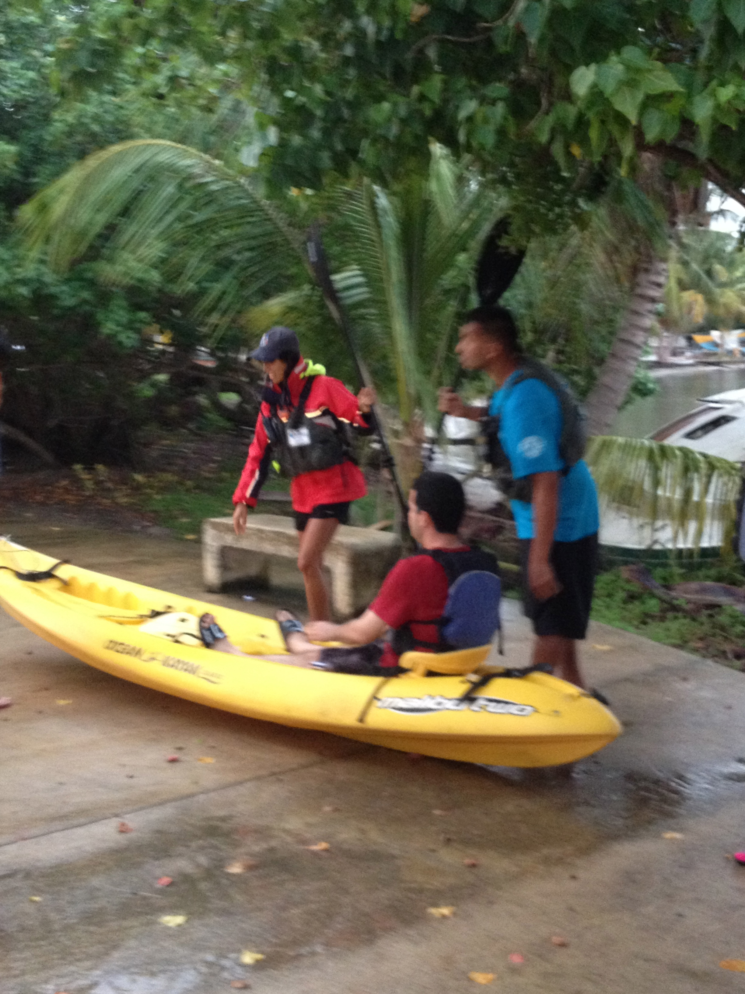 Big deal - the instructors can kayak on a sidewalk! We might be able to do that too.