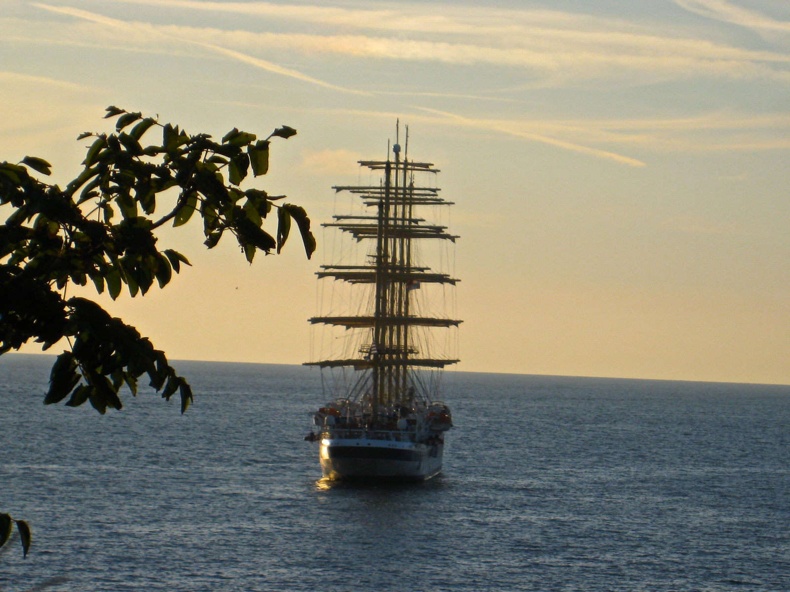 ship in Adriatic Sea off Rovinj, Croatia