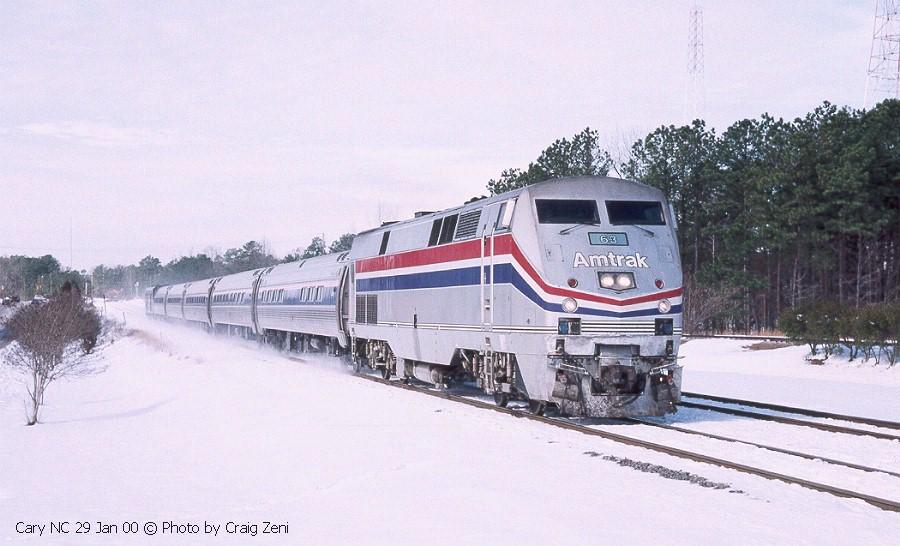 Amtrak train in northeast