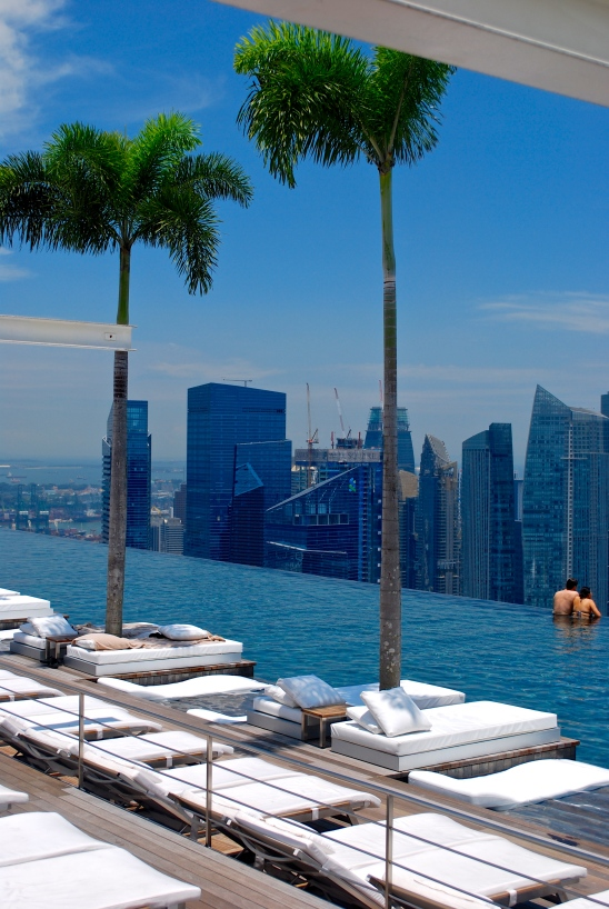 Singapore in the distance from the Marina Sands