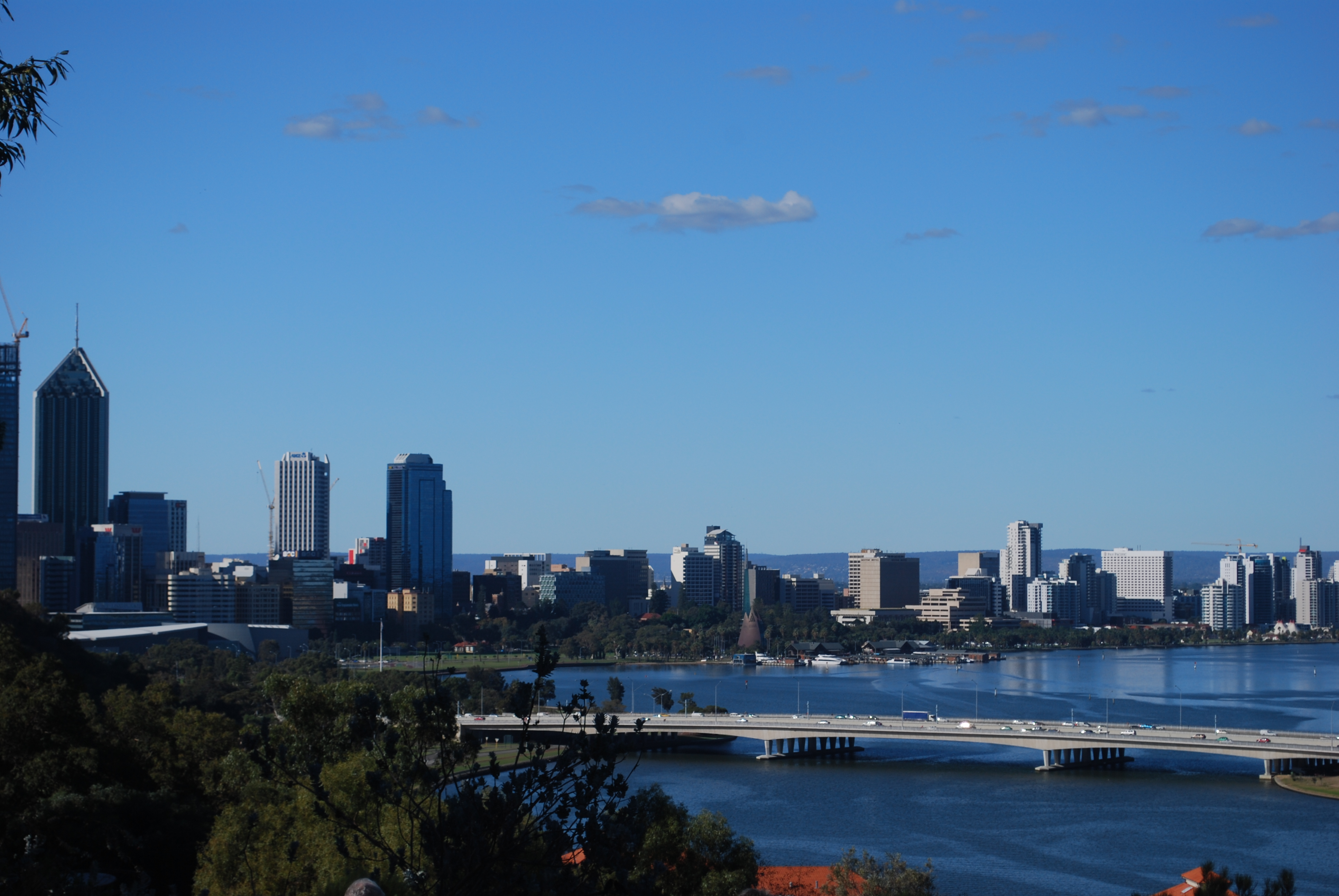 Perth from the harbor