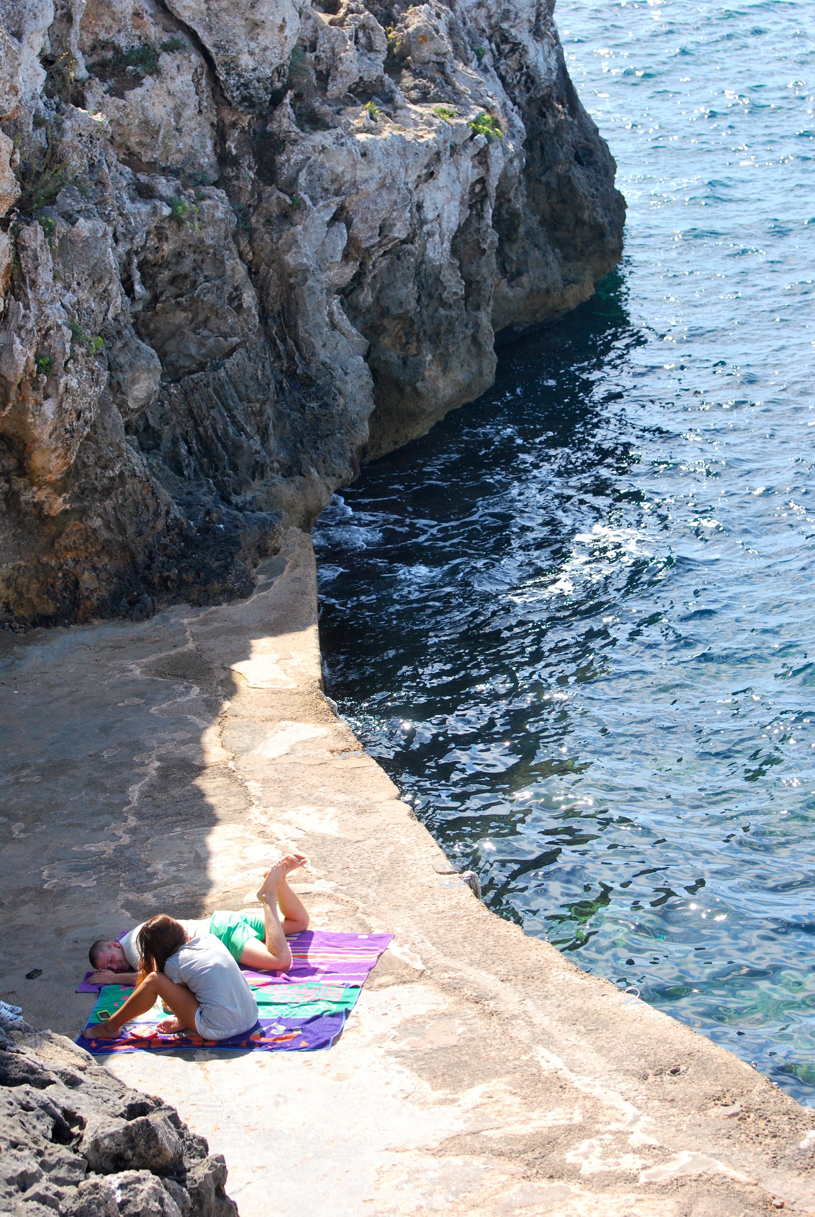 "Small rock ""beach"" in Binibecca Vell, Menorca, Spain"