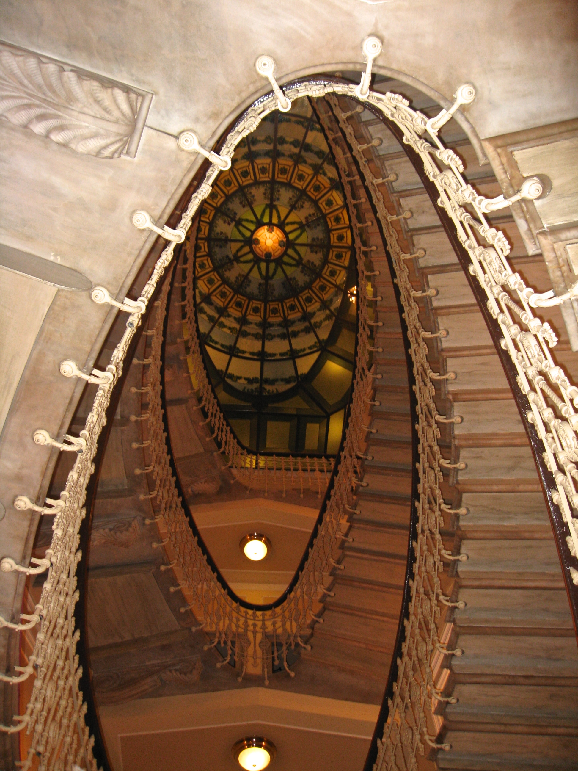 Staircase in Hotel Bristol Palace, Genoa Italy