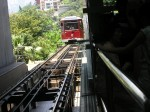 Peak View tram car in Hong Kong
