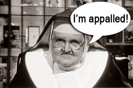 Appalled nun