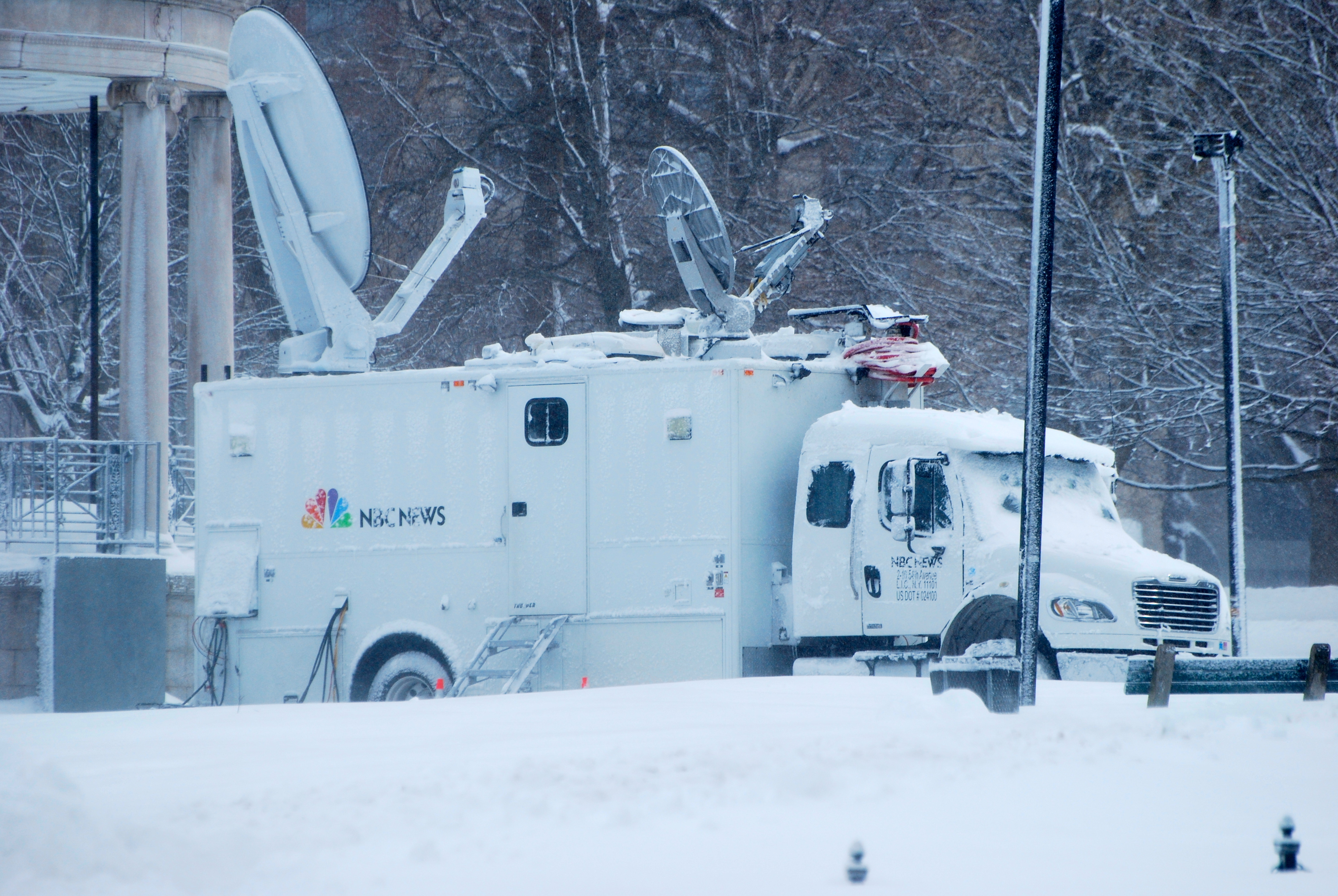 NBC news truck in Boston in Nemo
