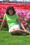Brunette in the Dubai Miracle Garden