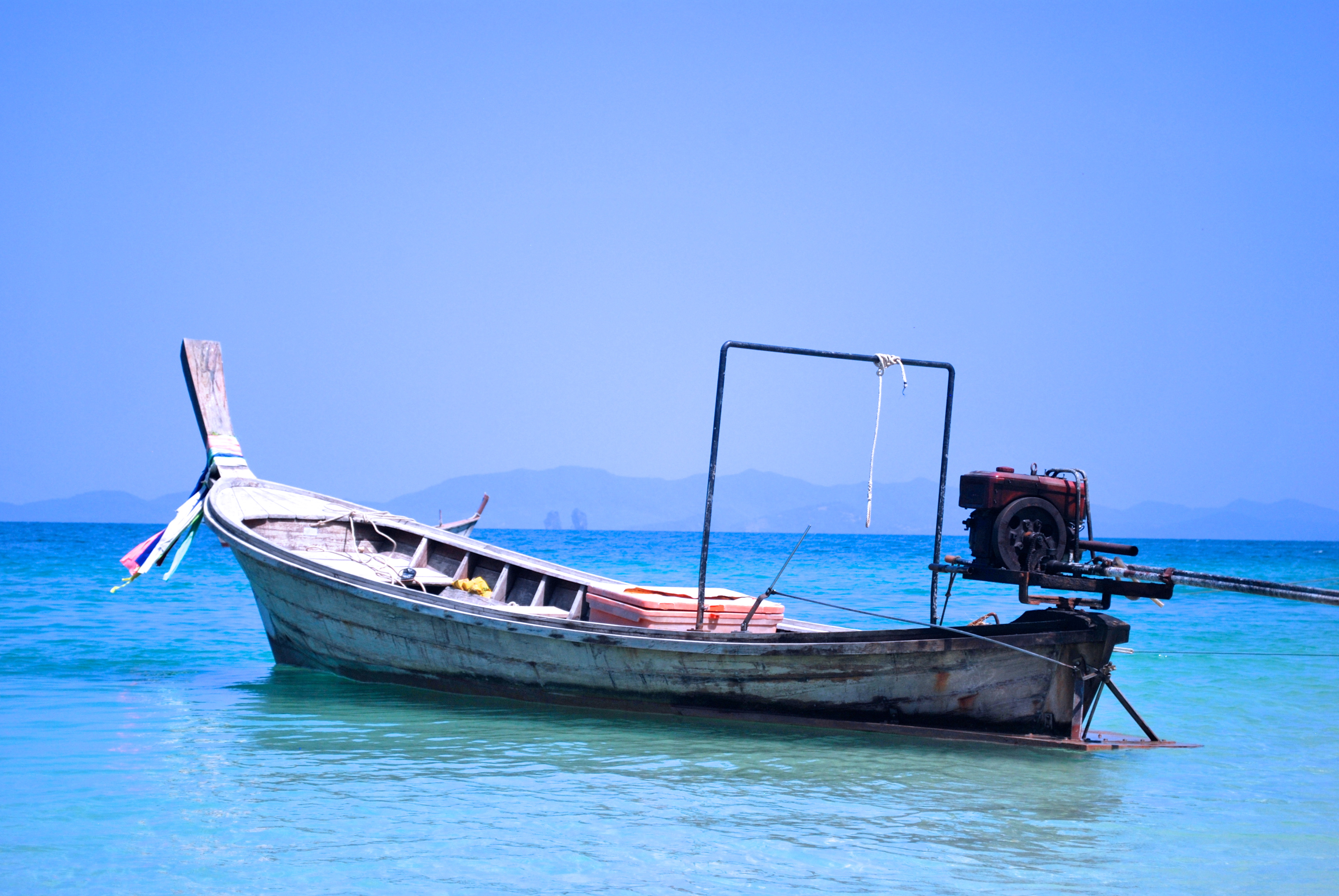 Old fashioned boat in Thailand