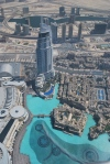 View of Dubai from 124 stories up in Burj al Khalifa