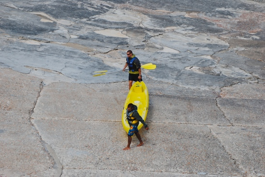 Kayakers in Hermanus, South Africa