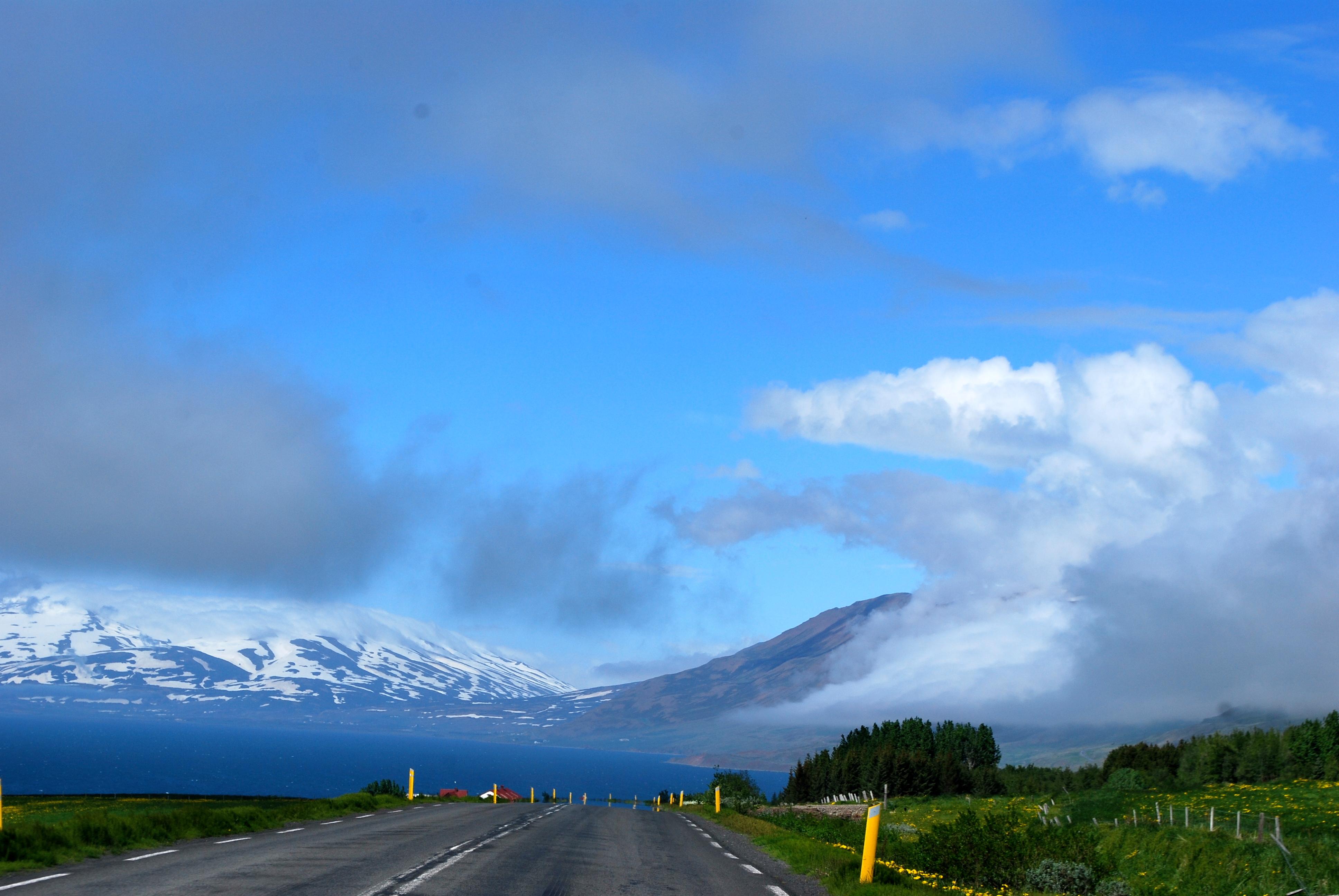 Leaving Akureyri, Iceland