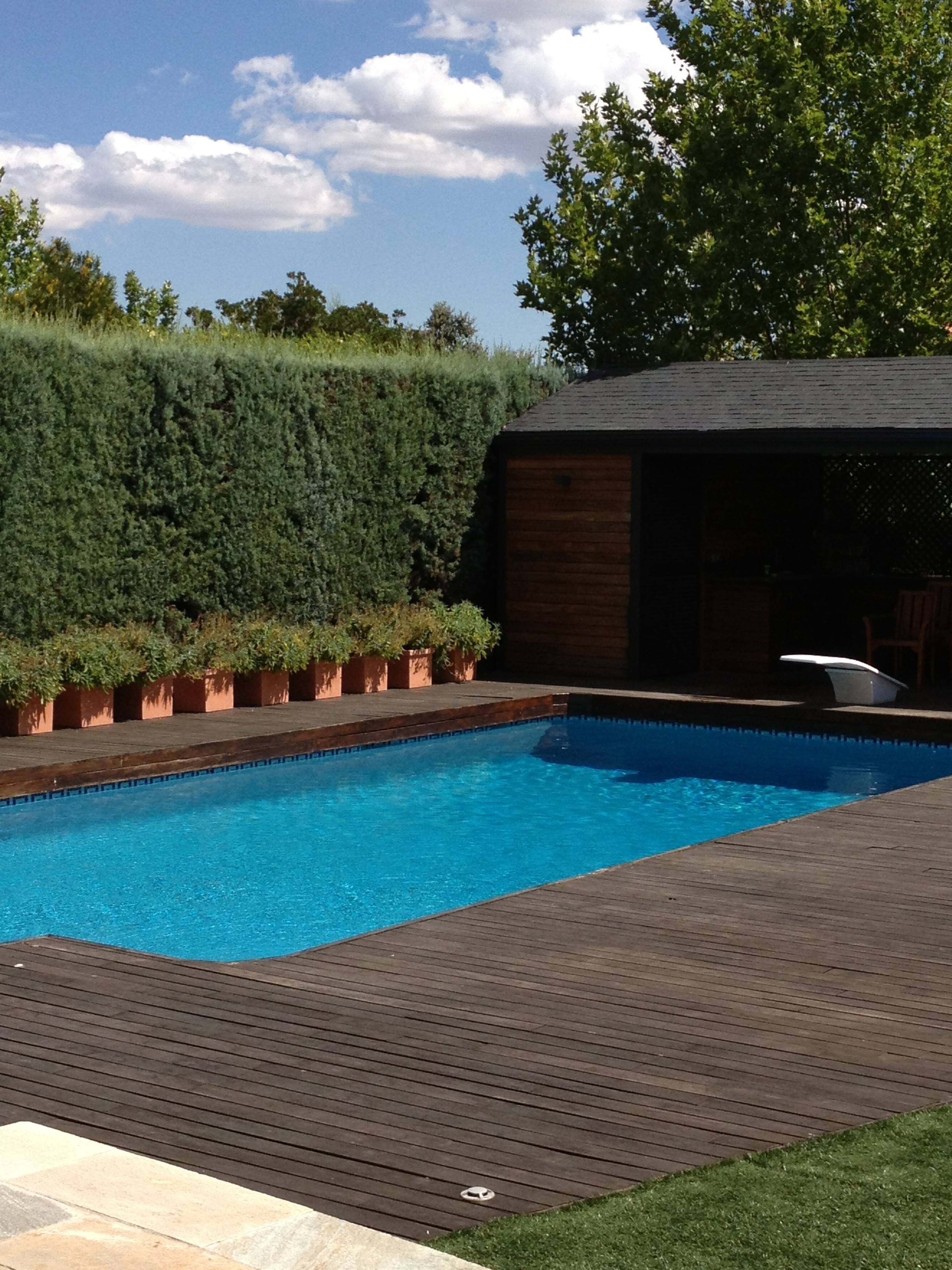 A pool at a house outside Madrid Spain