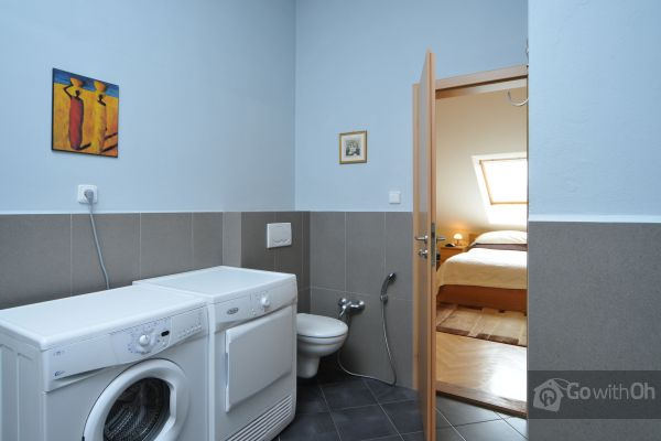 Laundry room in GoWithOh apartment in Prague