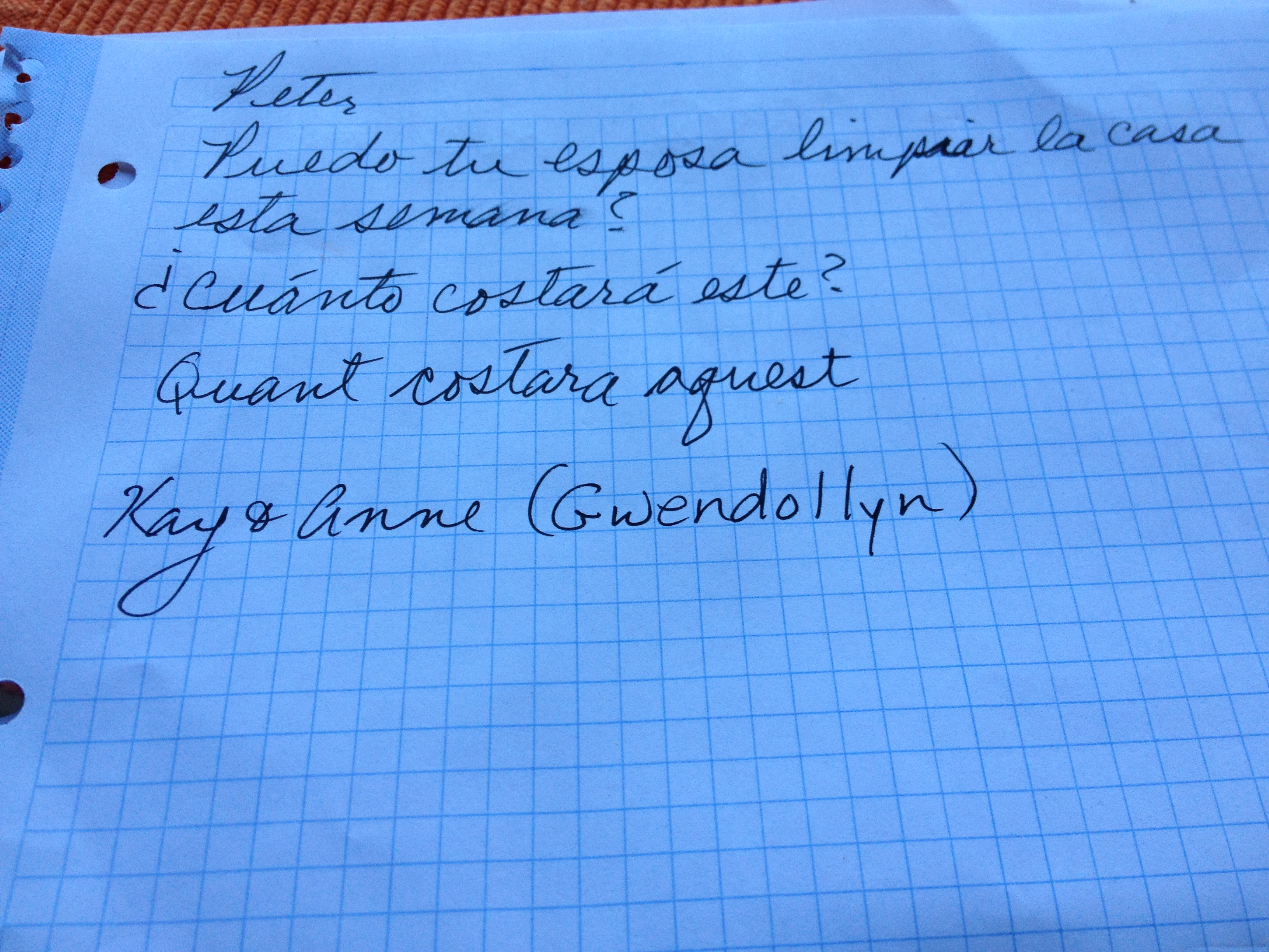 Pathetic note written in faux Catalan