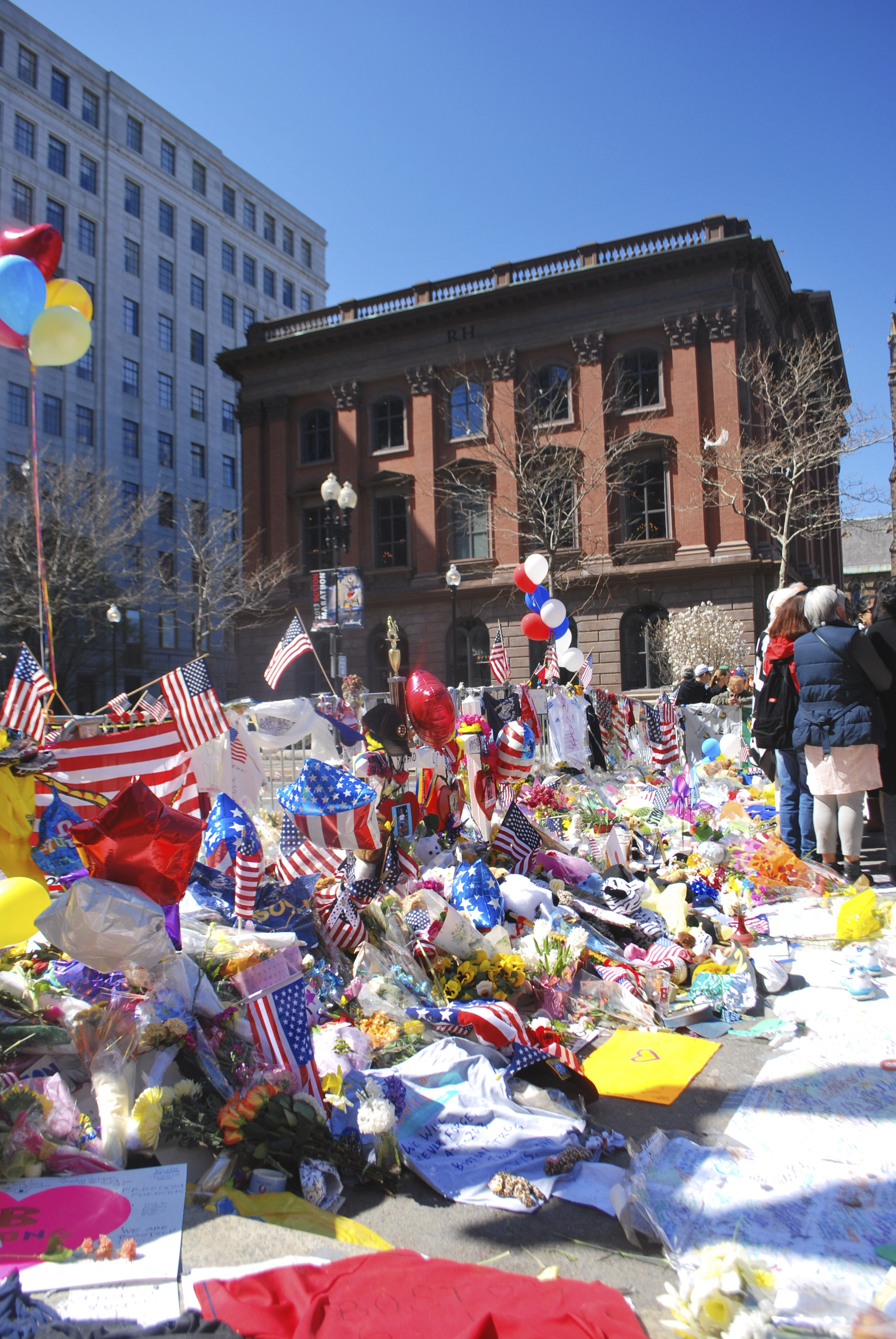 Memorial to survivors and victims of the Boston Marathon