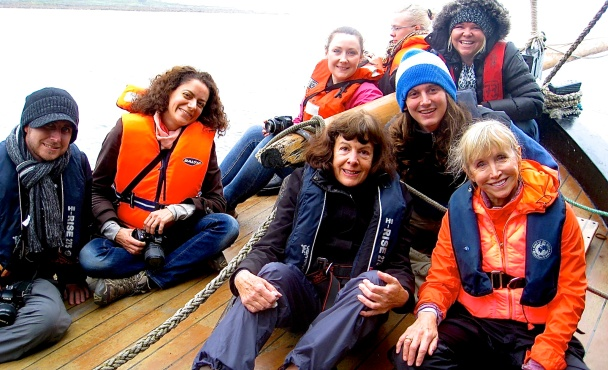 Bloggers on Irish Hooker ship