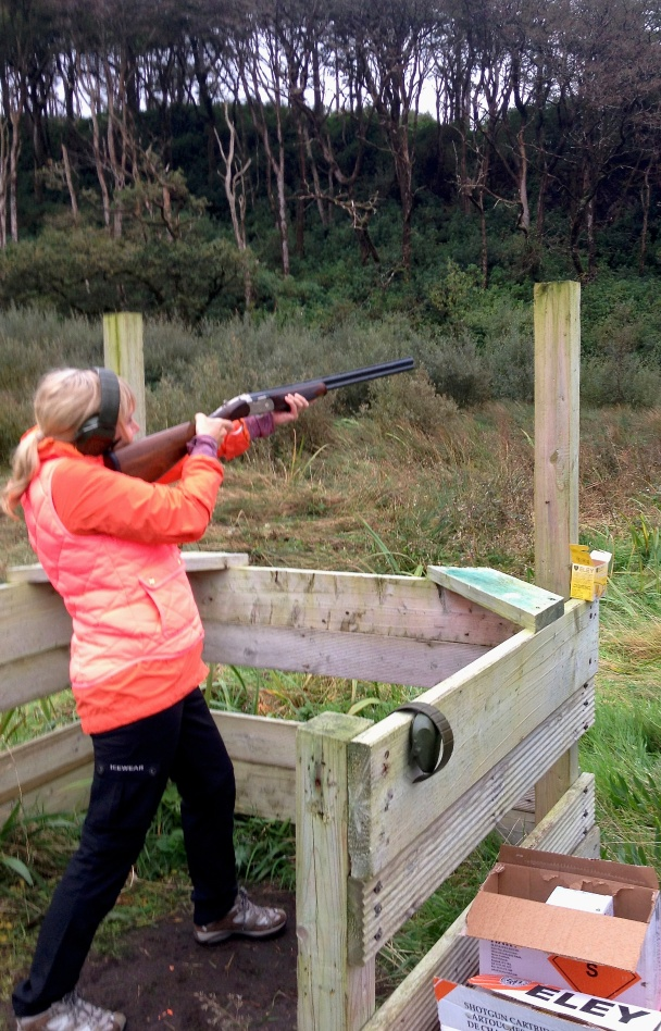 Shooting clay pigeons in Ireland