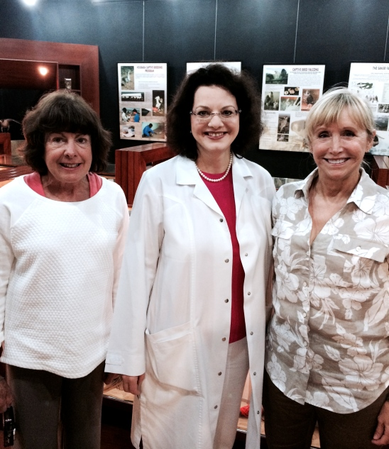Dr. Margit Gabriele Muller the Director of Veterinary Medicine at Abu Dhabi Falcon Hospital and two women who can't stay out of pictures!