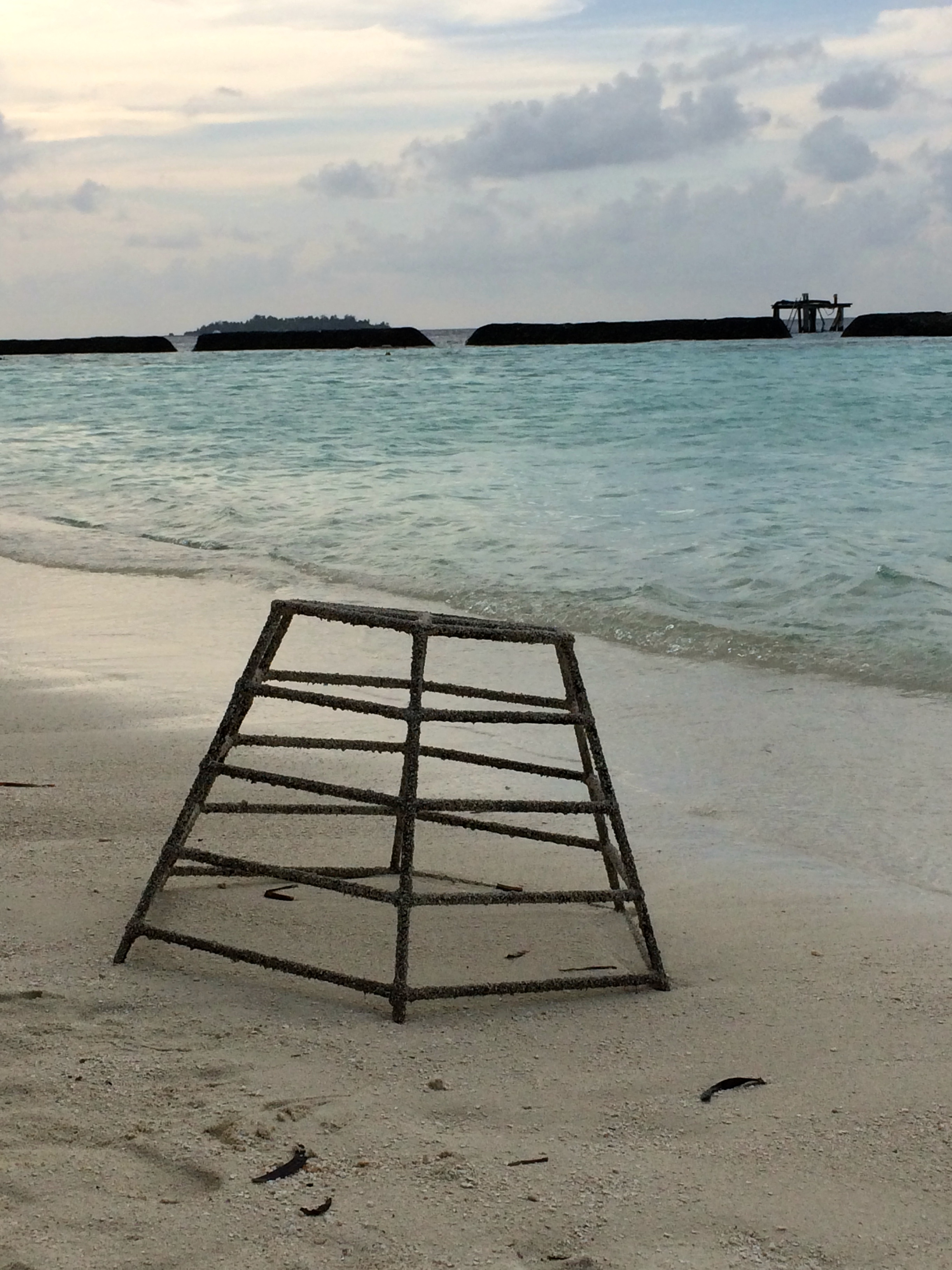 Frame used to create an artificial reef
