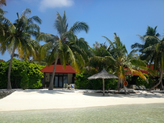 Deluxe ocean villa at Kurumba Maldives