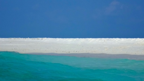 Sand bar in the Maldives