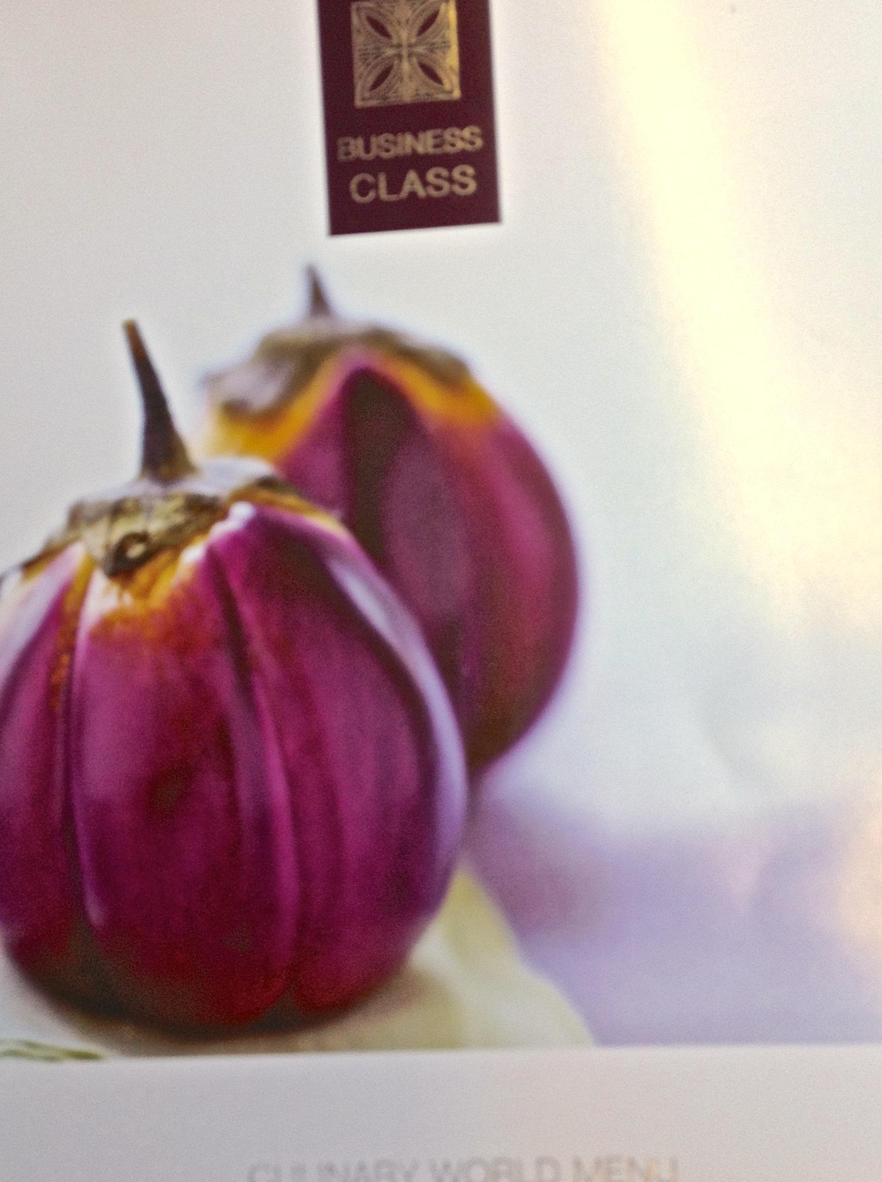 Business Class menu on Qatar Airways
