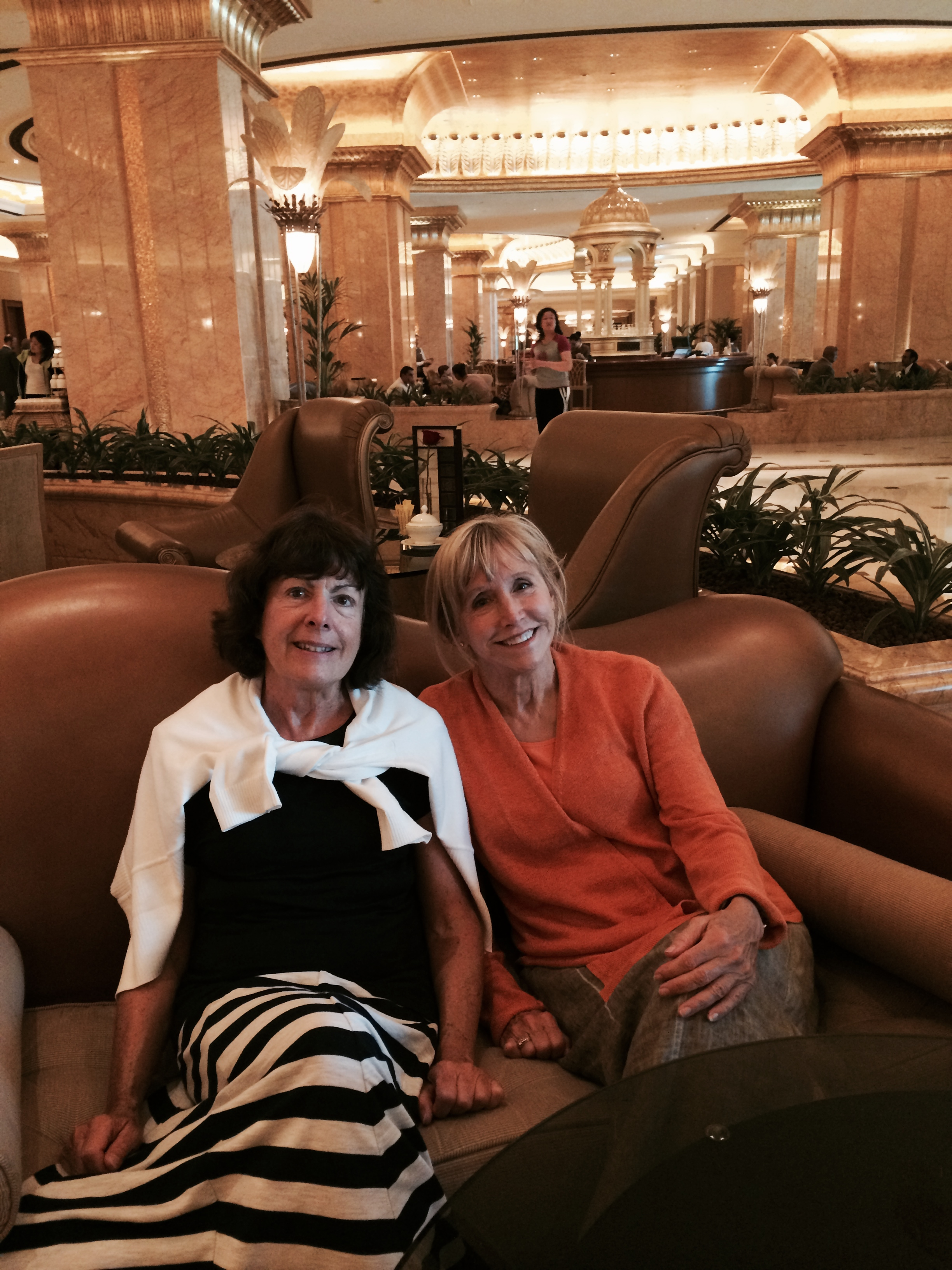Two women in Emirates Palace Abu Dhabi