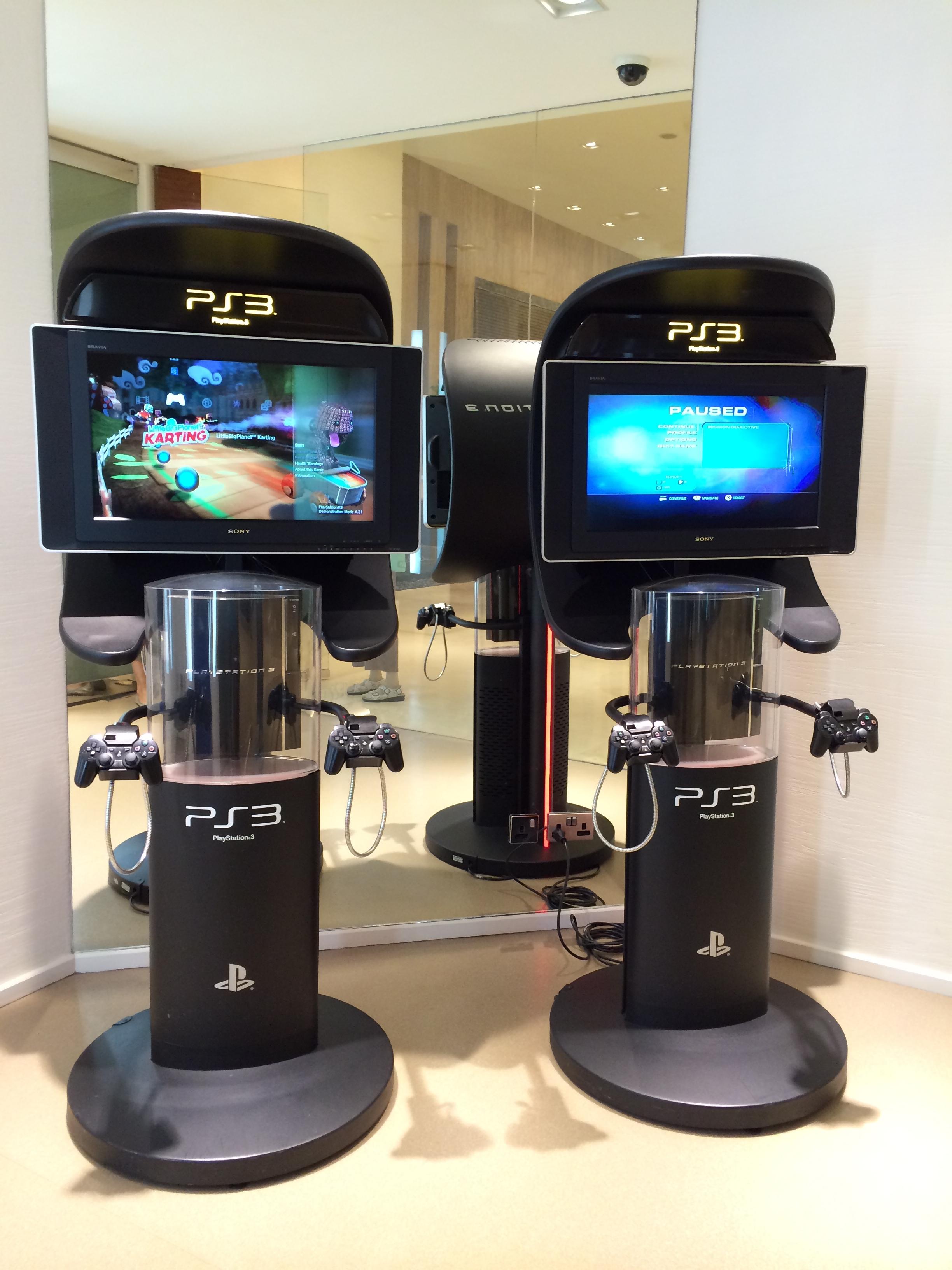 Video game room at Qatar Airways Premium Lounge in Doha, Qatar