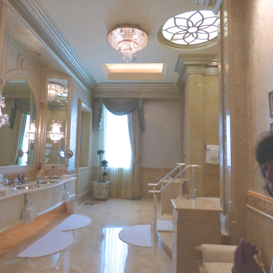 Master bathroom in a suite at the Emirates Palace, Abu Dhabi