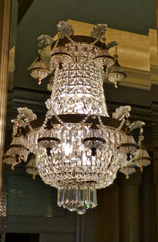 Swarovski crystal chandelier in Emirates Palace, Abu Dhabi