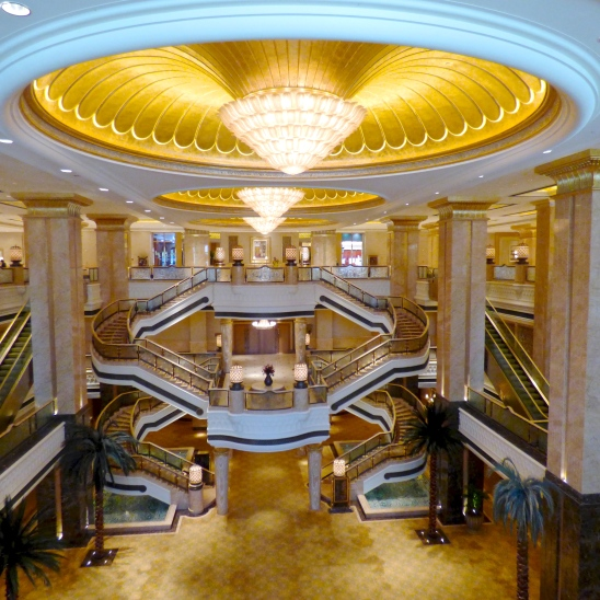 a staircase in the Emirates Palace, Abu Dhabi