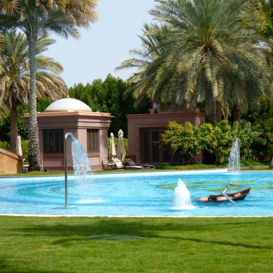 one of the pools at the Emirates Palaces in Emirates Palace, Abu Dhabi