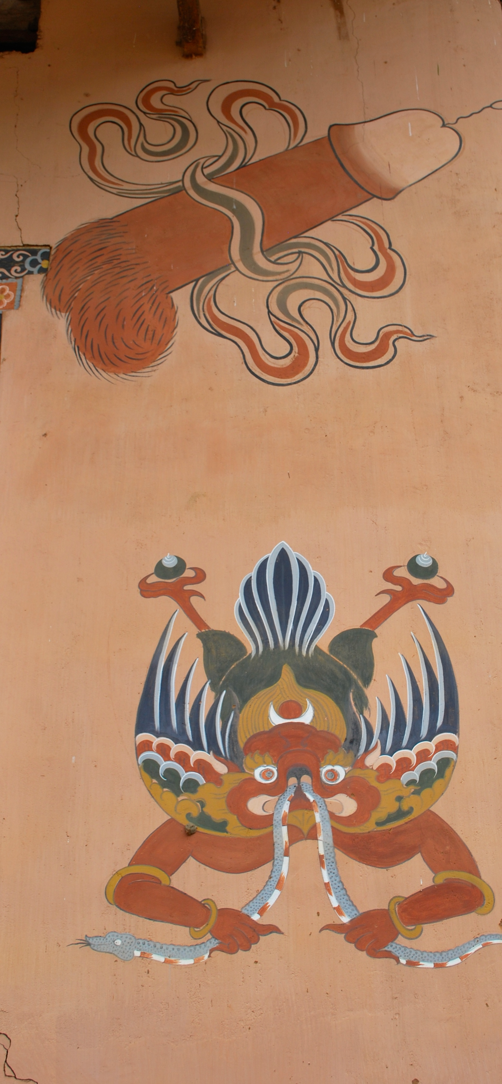 Penis on home in Bhutan