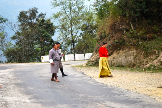 "Men's dress in Bhutan ""go"""
