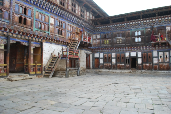 Courtyard where the monks ate at Wangdichholing Dzong