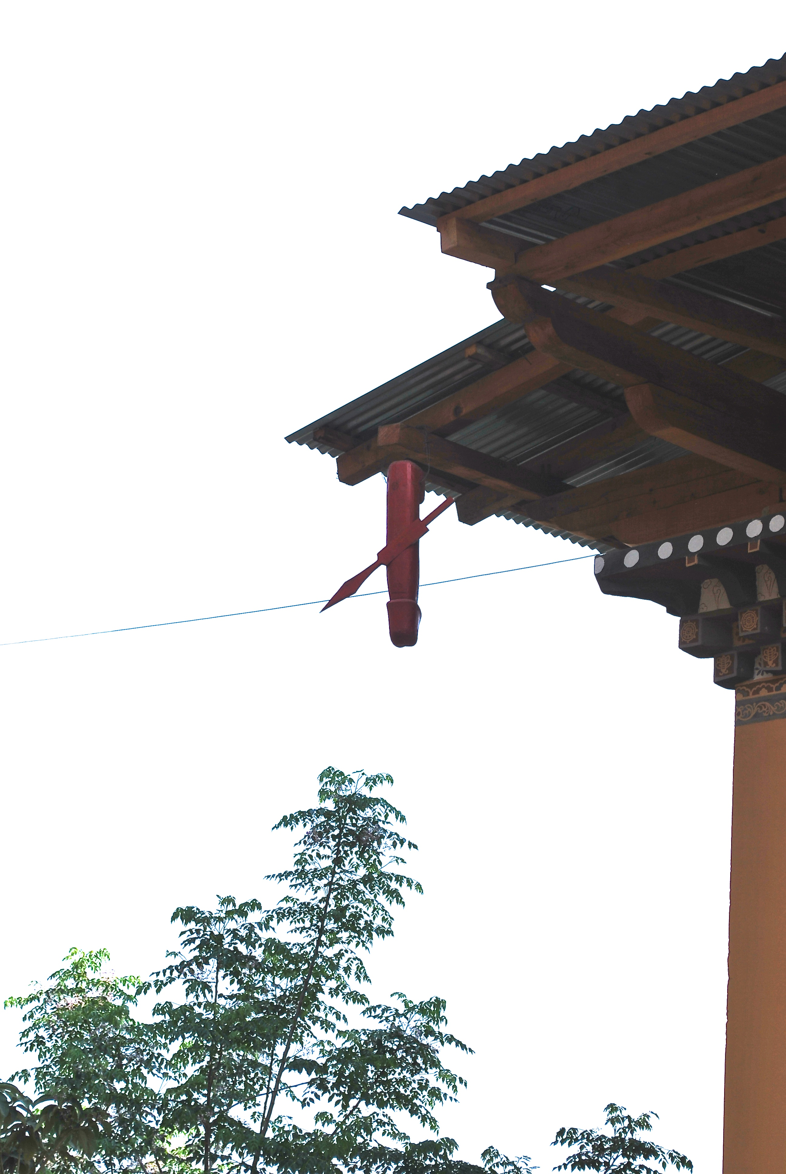Penis hanging from home in Bhutan