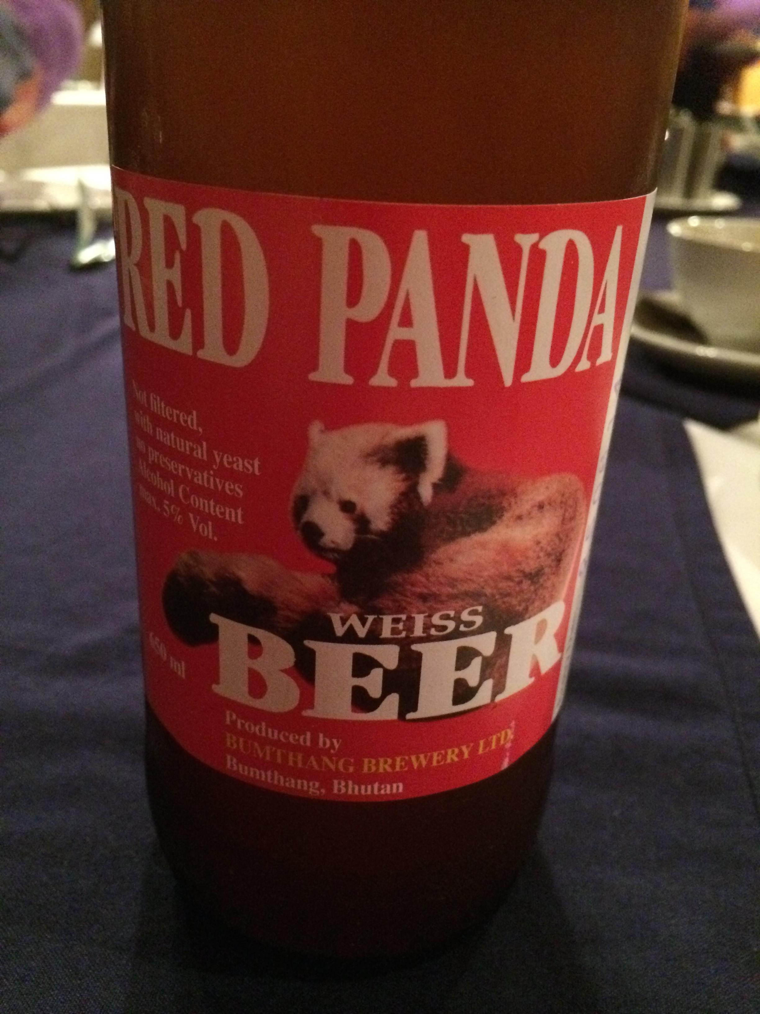 Red Panda Beer, Bhutan