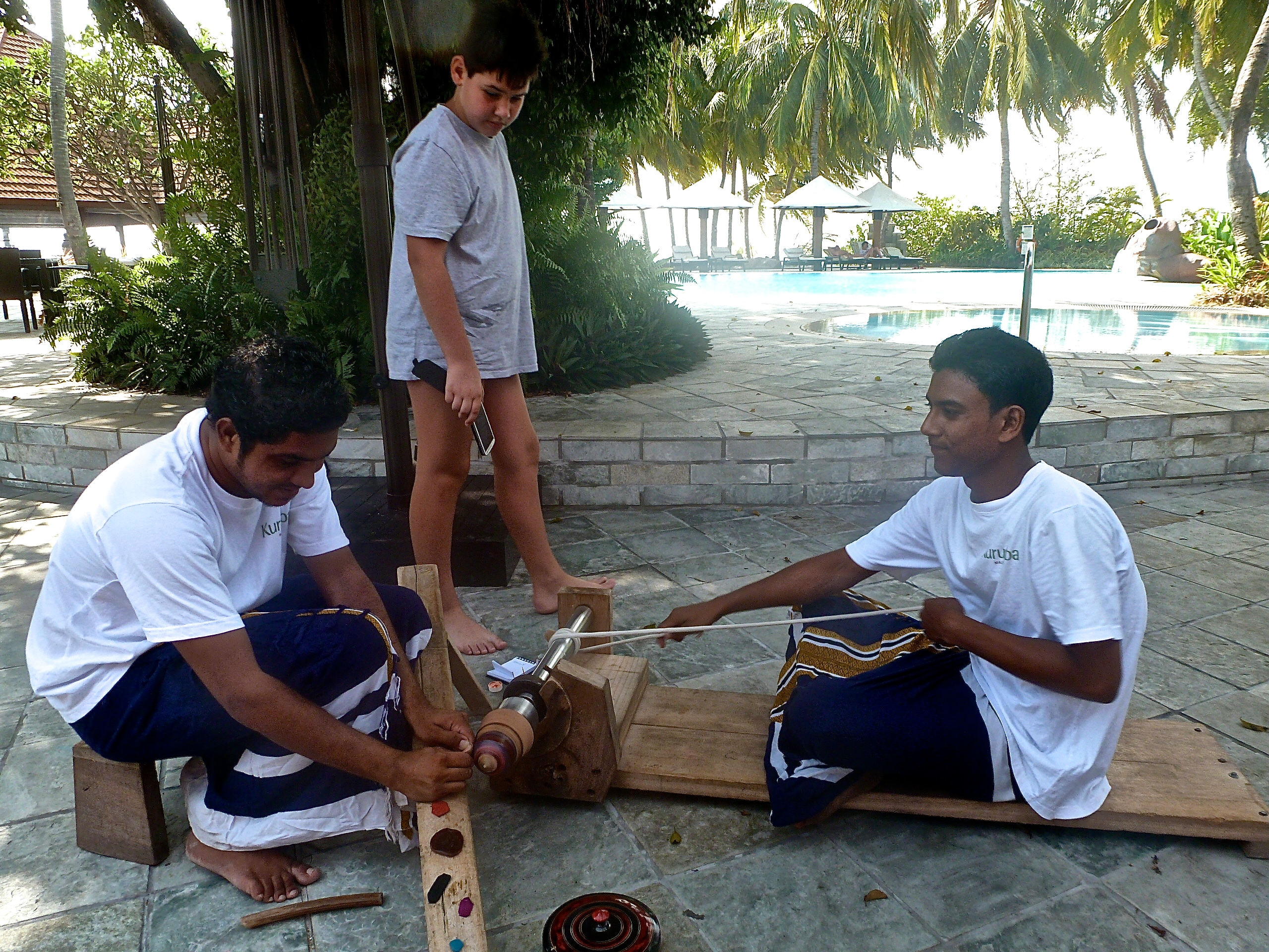 Local craftsmen in the Maldives
