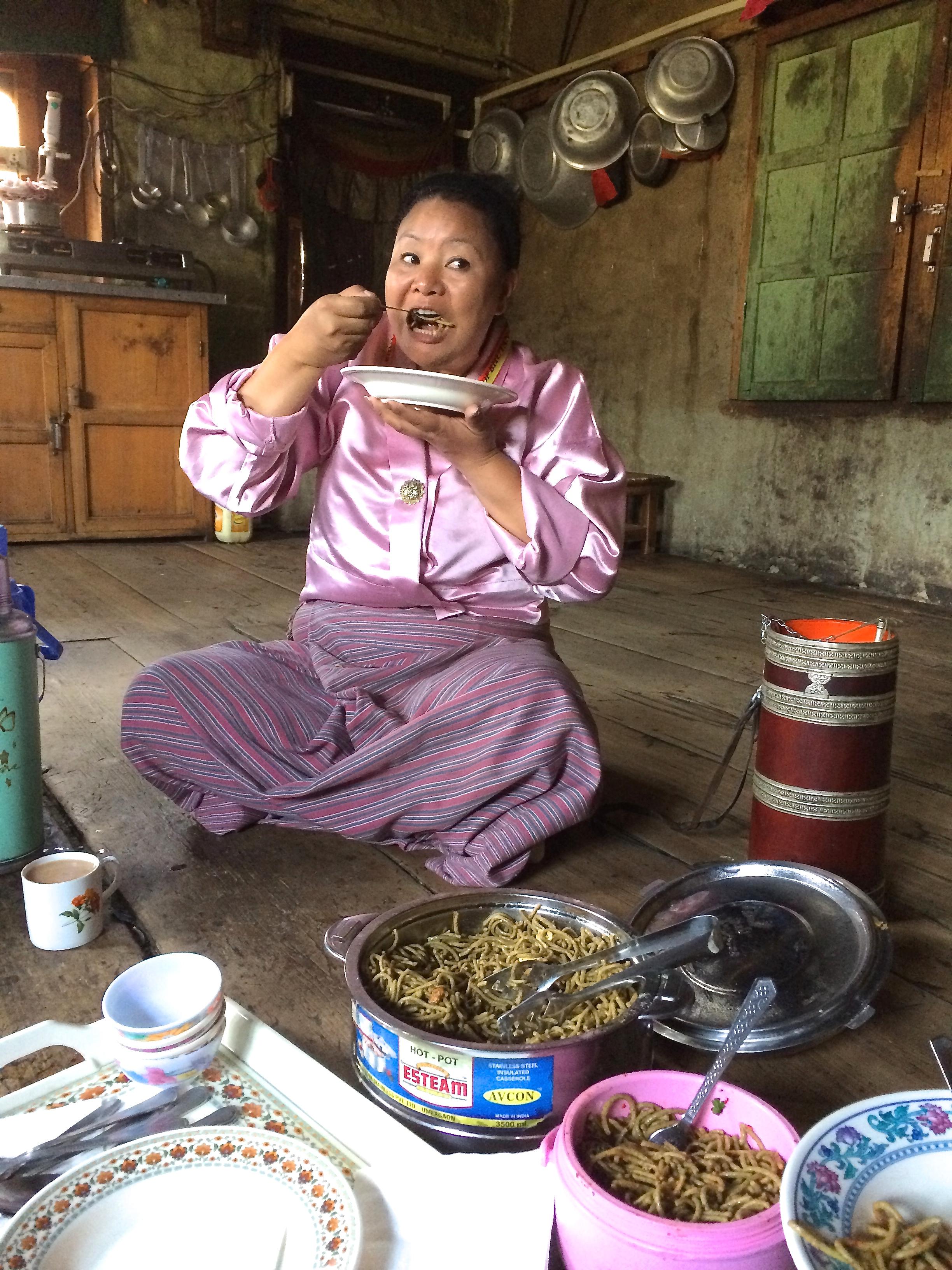 Buckwheat noodles in Bhutan