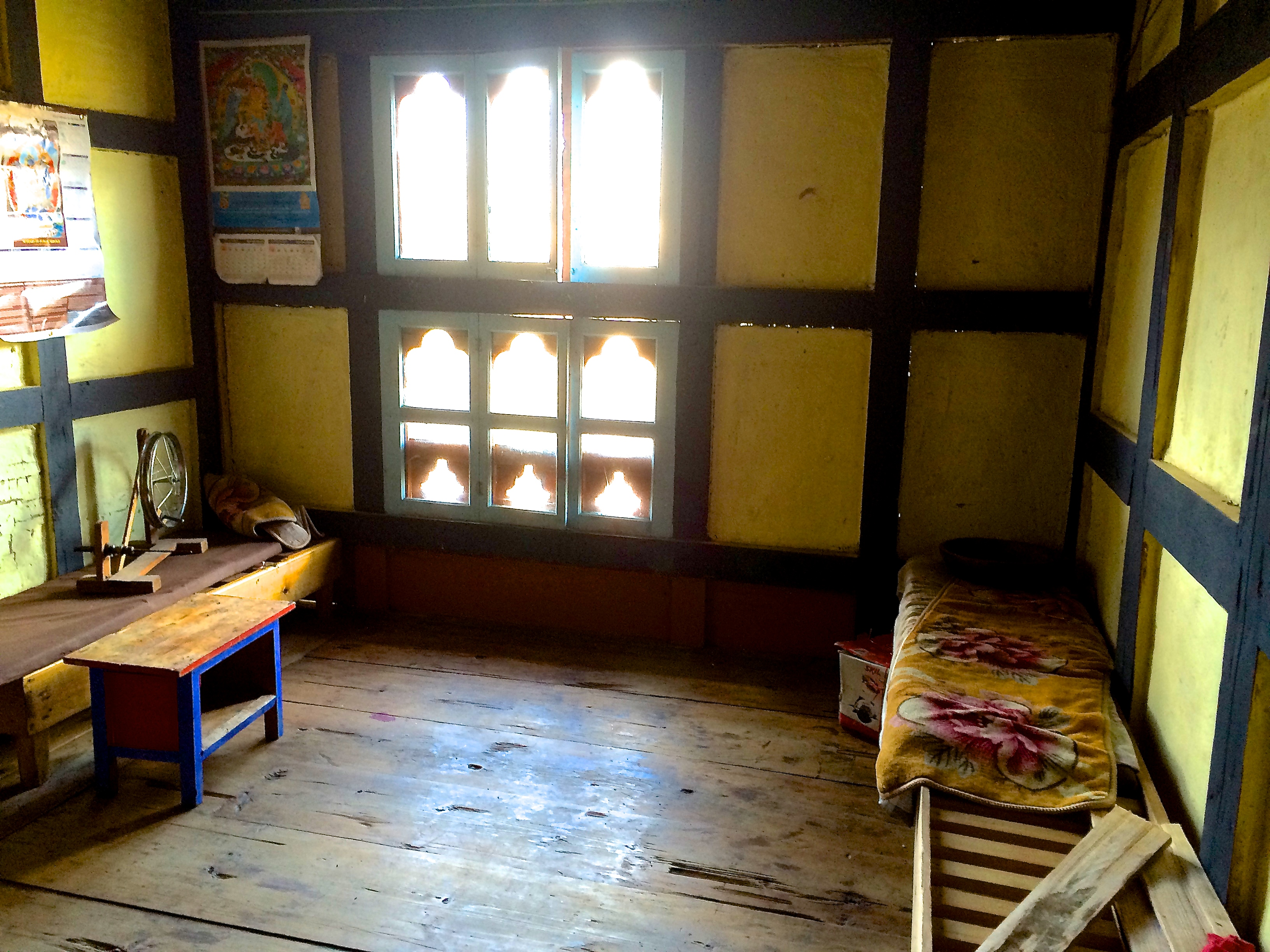 Living room in home in Bhutan